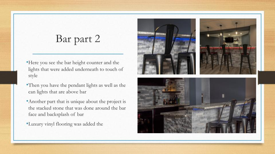 Home Remodeling Milwaukee Bar Part 2